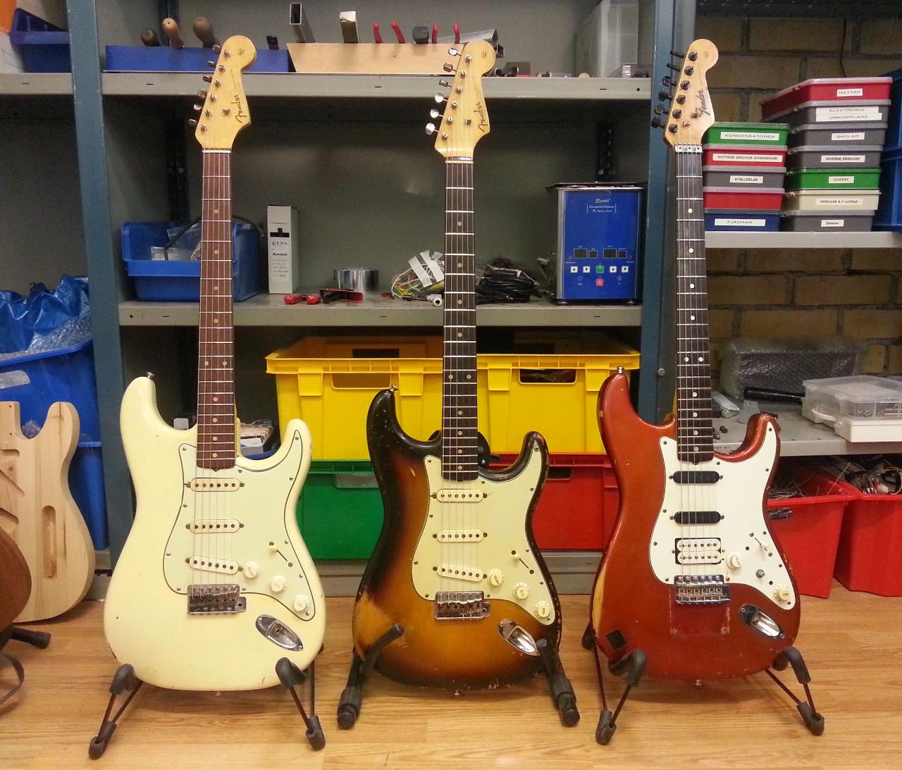 Fender Stratocaster 1963, 1960 och 1965